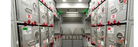 Armarios avión precintados
